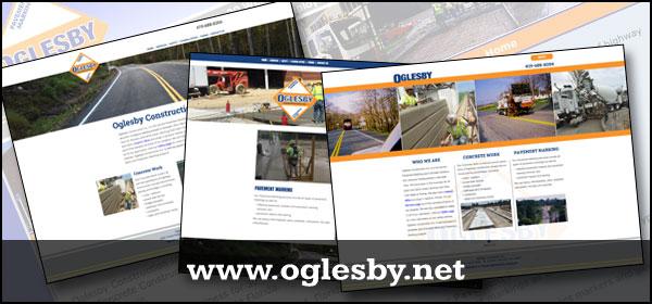 oglesby construction website designs